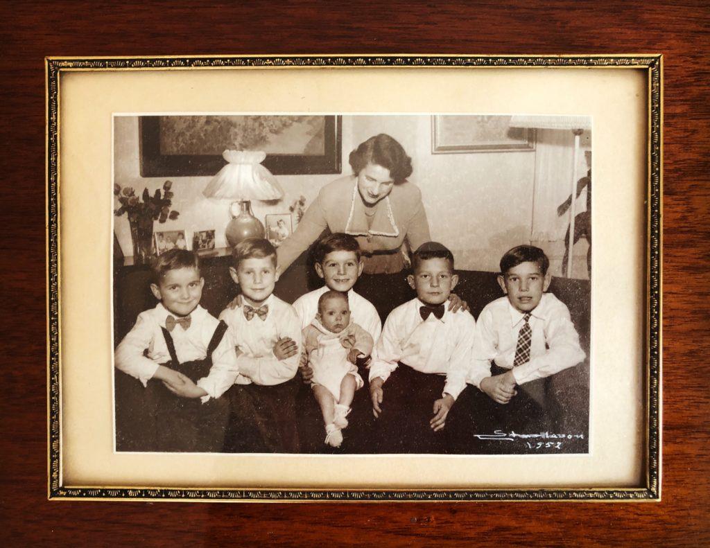 Gammelt familiebilde fra 1952